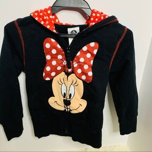 Little Girl's Minnie Mouse Zippered Hoodie sz 5/6